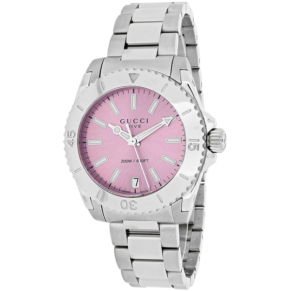 22334773cc5 Shop Gucci Women s YA136401  Dive  Stainless Steel Watch - Free Shipping  Today - Overstock - 10329694