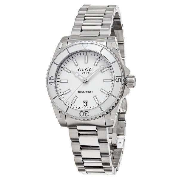 Gucci Women's YA136402 'Dive' Stainless Steel Watch. Opens flyout.