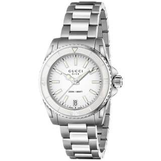 Gucci Women's YA136402 'Dive' Stainless Steel Watch|https://ak1.ostkcdn.com/images/products/10329697/P17439964.jpg?impolicy=medium