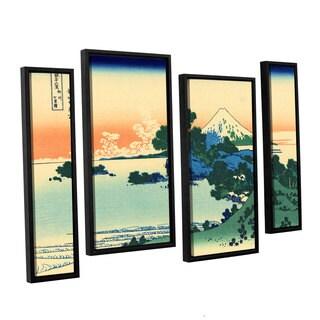 ArtWall Katsushika Hokusai 'Shichiri Beach In Sagami Province' 4 Piece Gallery-wrapped Canvas Staggered Set