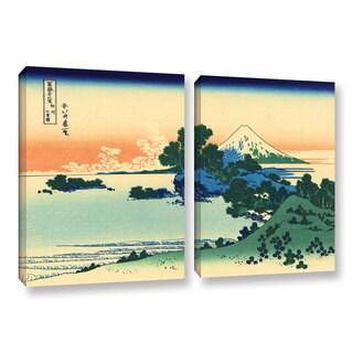 ArtWall Katsushika Hokusai 'Shichiri Beach In Sagami Province' 2 Piece Gallery-wrapped Canvas Set