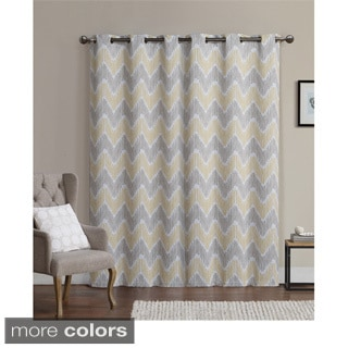 VCNY Marlie Printed 96-inch Blackout Grommet Curtain Panel Pair