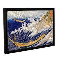 ArtWall Katsushika Hokusai 'Ocean Waves' Gallery-wrapped Floater-framed Canvas