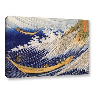 ArtWall Katsushika Hokusai 'Ocean Waves' Gallery-wrapped Canvas