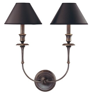 Hudson Valley Jasper 2-light Wall Sconce, Old Bronze and Gold