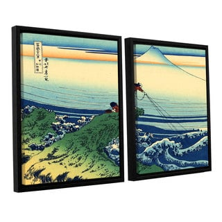 ArtWall Katsushika Hokusai 'Kajikazawa In Kai Province' 2 Piece Floater Framed Canvas Set