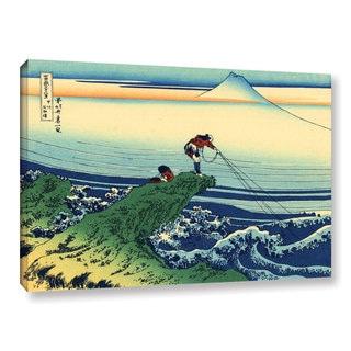 ArtWall Katsushika Hokusai 'Kajikazawa In Kai Province' Gallery-wrapped Canvas