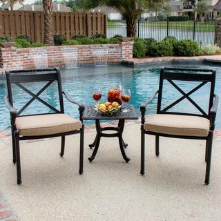 Lakeview Outdoor Designs Carrolton 2-Person Cast Aluminum Patio Bistro Set