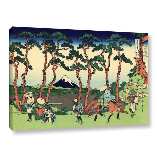 ArtWall Katsushika Hokusai 'Hodogaya On The Tokaido' Gallery-wrapped Canvas