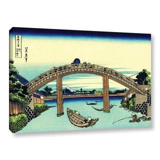 ArtWall Katsushika Hokusai 'Fuji See Through The Mannen Bridge At Fukagawa' Gallery-wrapped Canvas