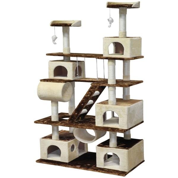 Gopetclub Huge Cat Tree Condo House Furniture Free