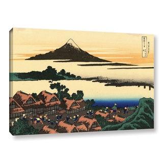 ArtWall Katsushika Hokusai 'Dawn At Isawa In The Kai Province ' Gallery-wrapped Canvas