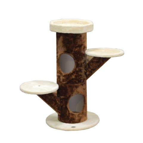 GoPetClub 35-inch Beige and Brown Cat Tree Condo House