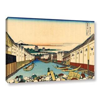 ArtWall Katsushika Hokusai 'Nihonbashi In Edo' Gallery-wrapped Canvas