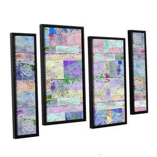 ArtWall Greg Simanson 'Abstract I ' 4 Piece Floater Framed Canvas Staggered Set