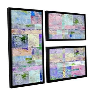 ArtWall Greg Simanson 'Abstract I ' 3 Piece Floater Framed Canvas Flag Set
