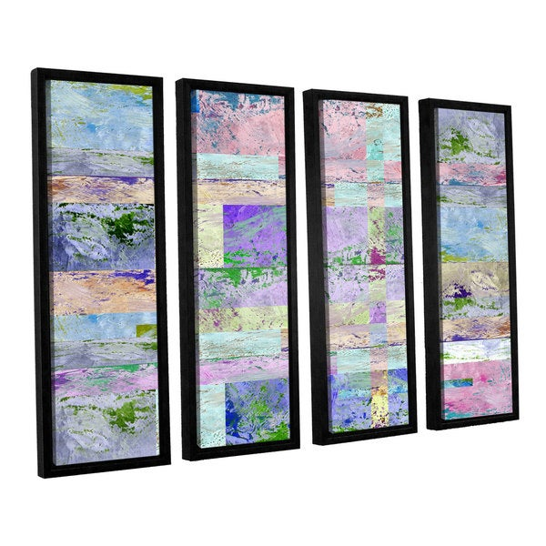 ArtWall Greg Simanson 'Abstract I ' 4 Piece Floater Framed Canvas Set
