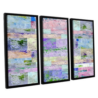 ArtWall Greg Simanson 'Abstract I ' 3 Piece Floater Framed Canvas Set
