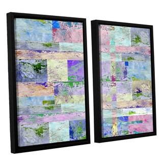 ArtWall Greg Simanson 'Abstract I ' 2 Piece Floater Framed Canvas Set