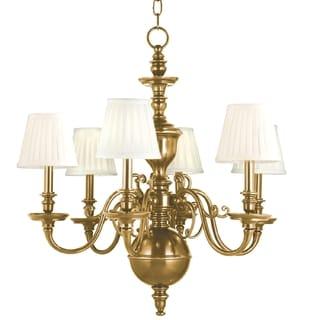 Hudson Valley Charleston 6-light Chandelier, Aged Brass