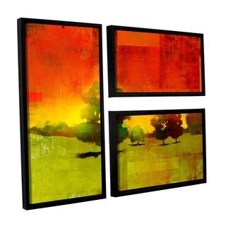 ArtWall Greg Simanson 'Tree Study ' 3 Piece Floater Framed Canvas Flag Set