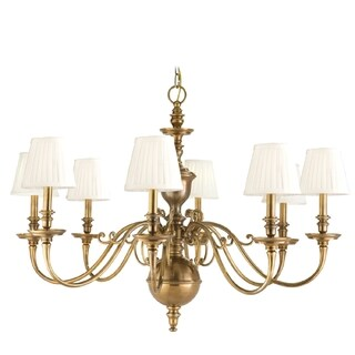 Hudson Valley Charleston 8-light Chandelier, Aged Brass