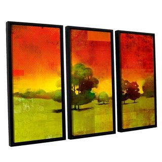 ArtWall Greg Simanson 'Tree Study ' 3 Piece Floater Framed Canvas Set