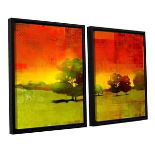 ArtWall Greg Simanson 'Tree Study ' 2 Piece Floater Framed Canvas Set