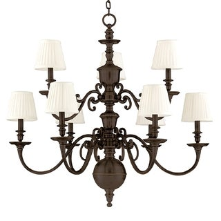 Hudson Valley Charleston 9-light Chandelier, Old Bronze
