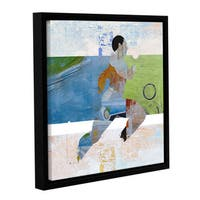 ArtWall Greg Simanson 'Runner' Gallery-wrapped Floater-framed Canvas