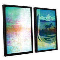 ArtWall Greg Simanson 'Icons Iv' 2 Piece Floater Framed Canvas Set