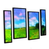 ArtWall Greg Simanson 'Homeland' 4 Piece Floater Framed Canvas Staggered Set - Multi