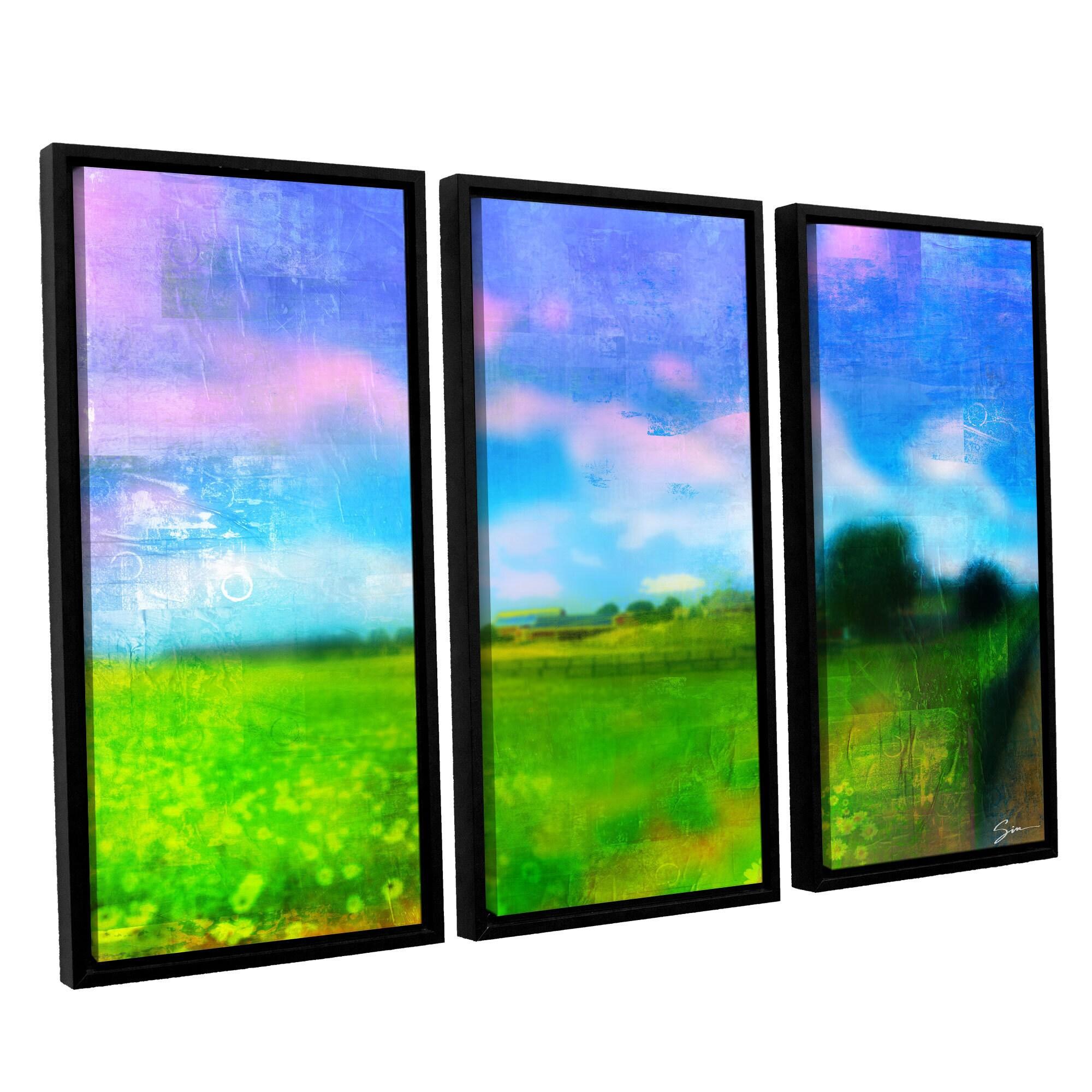 36 x 54 ArtWall 3 Piece Greg Simansons Homeland Floater Framed Canvas Set