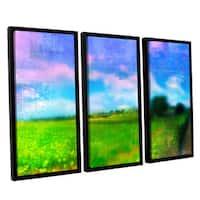 ArtWall Greg Simanson 'Homeland' 3 Piece Floater Framed Canvas Set