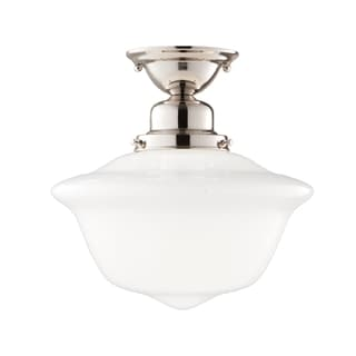 Hudson Valley Edison 1-light 12 inch Semi Flush, Polished Nickel
