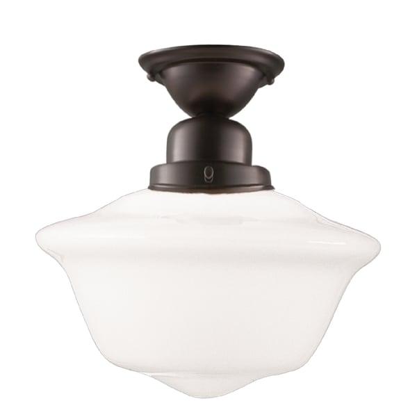 Hudson Valley Edison 1-light 15 inch Semi Flush, Old Bronze