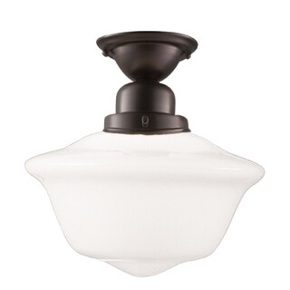 Hudson Valley Edison 1-light 15 inch Semi Flush, Old Bronze