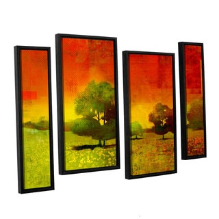 ArtWall Greg Simanson 'Drenched Grace' 4 Piece Floater Framed Canvas Staggered Set