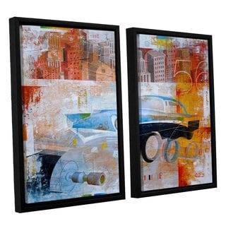 ArtWall Greg Simanson '56' 2 Piece Floater Framed Canvas Set