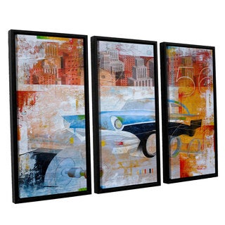 ArtWall Greg Simanson '56' 3 Piece Floater Framed Canvas Set