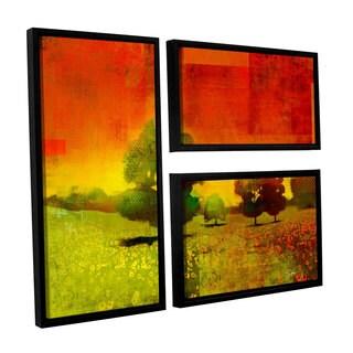 ArtWall Greg Simanson 'Drenched Grace' 3 Piece Floater Framed Canvas Flag Set