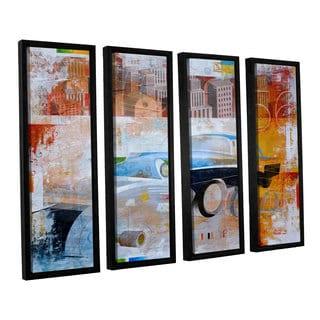 ArtWall Greg Simanson '56' 4 Piece Floater Framed Canvas Set