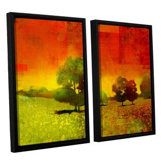 ArtWall Greg Simanson 'Drenched Grace' 2 Piece Floater Framed Canvas Set