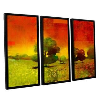 ArtWall Greg Simanson 'Drenched Grace' 3 Piece Floater Framed Canvas Set