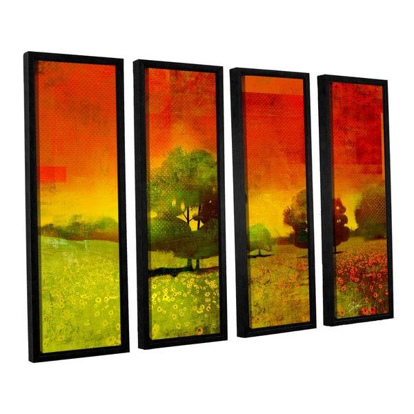 ArtWall Greg Simanson 'Drenched Grace' 4 Piece Floater Framed Canvas Set