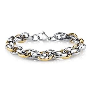 Men's Two-tone Stainless Steel Bracelet
