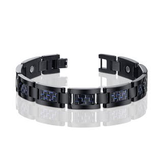 Men's Titanium and Carbon Fiber Bracelet|https://ak1.ostkcdn.com/images/products/10331473/P17442188.jpg?impolicy=medium