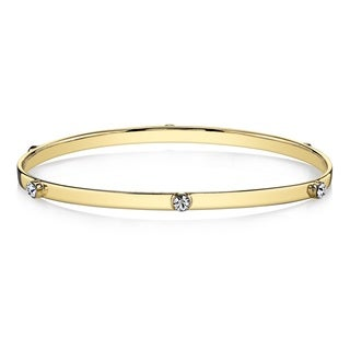 Gorgeous Women's Yellow and Cubic Zirconia Bangle