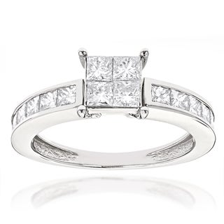 Luxurman 14k Gold 2 1/4ct TDW Princess-cut Diamond Engagement Ring (G-H, SI1-SI2)
