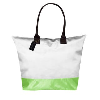 Peach Couture KYLIE Two-tone White/ Green Plage a Main Waterproof Tote